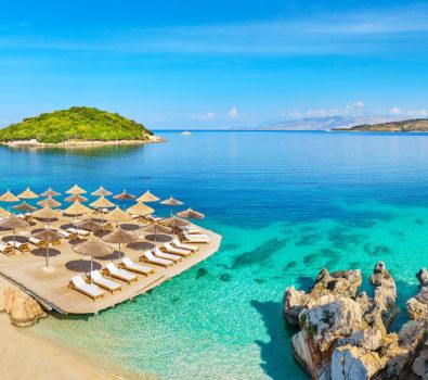 ksamil playa albania europa